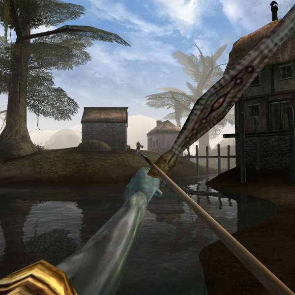 Custom animations enables proper right handed use of bows
